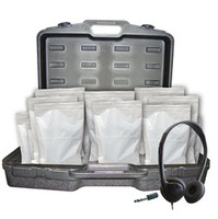 AE-711 On-Ear Headphones Classroom Pack & Case (Qty 24)