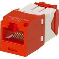 CAT5E 8POSITION 8WIRE RED MOD