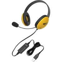CALIFONE YELLOW STEREO HEADSET