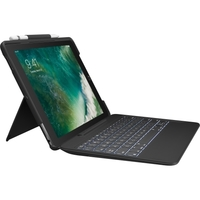 "Logitech Slim Combo Keyboard/Cover Case (Folio) for 12.9"" iPad Pro - Black"