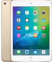 Apple iPad mini 4 128 GB Tablet - 7.9; 4:3 Multi-touch Screen - 2048 x 1536 - Retina Display - Apple A8 Dual-core (2 Core) 1.50 GHz - iOS 9 - 4G - GSM, CDMA2000 Cellular Network Supported - UMTS, HSPA, HSPA+, DC-HSDPA, EDGE, CDMA2000 1xEV-DO Rev A, CDMA2000 1xEV-DO Rev B, LTE - Gold - Wireless LAN - Bluetooth - Imagination Technologies PowerVR GX6450 Graphics - WWAN Supported - Lightning - Barometer, Ambient Light Sensor, Accelerometer, Gyro Sensor, Digital Compass - GPS - Front Camera/Webc