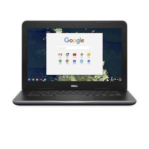 "Dell Chromebook 13.3"" HD LCD 1366x768 Intel Celeron C3855 2MB cache 1.6GHz 4GB DDR3 16GB SSD Black Matte"