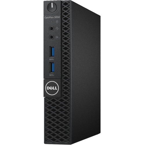 Dell OptiPlex 3050 Desktop Computer - Intel Core i5 (7th Gen) i5-7500T 2.70 GHz - 8 GB DDR4 SDRAM - 256 GB SSD - Windows 10 Pro 64-bit (English/French/Spanish) - Micro PC