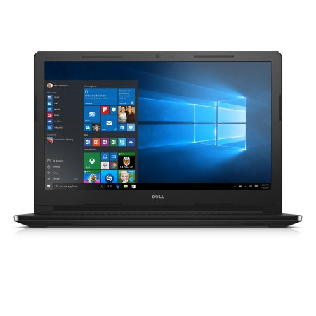 """Dell Inspiron 3000 15.6"""" HD LED Backlit 1366x768 Intel Core i5 7200U 3M cache up to 3.1 GHz 8GB single channel DDR4 2400 MHz 1TB 5400 RPM Black Gloss"""