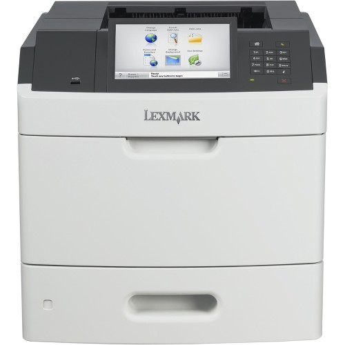 Lexmark MS812DE Laser Printer - Monochrome - 1200 x 1200 dpi Print - Plain Paper Print - Desktop - 70 ppm Mono Print - 650 sheets Standard Input Capacity - 300000 Duty Cycle - Automatic Duplex Print - LCD - Ethernet - USB