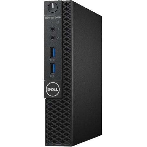 Dell OptiPlex 3000 3050 Desktop Computer - Intel Core i3 (7th Gen) i3-7100T 3.40 GHz - 4 GB DDR4 SDRAM - 128 GB SSD - Windows 10 Pro 64-bit (English/French/Spanish) - Micro PC