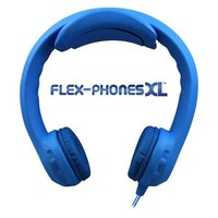 Flex-PhonesXL - Indestructible, Single-Construction Headphones For Teens (Blue)