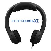 Flex-PhonesXL - Indestructible, Single-Construction Headphones For Teens (Black)