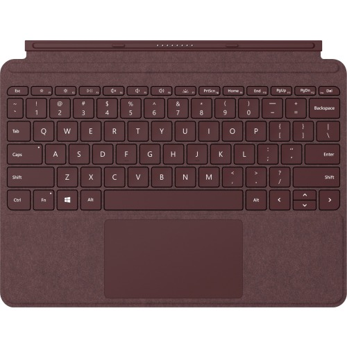 "Microsoft Signature Type Cover Keyboard/Cover Case Tablet - Burgundy - Alcantara - 6.9"" Height x 9.7"" Width x 0.3"" Depth BURGUNDY"