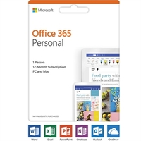 Office 365 - Personal (1-year Subscription - Product Key Card) New: 2019 Release