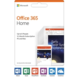 Office 365 - Home (1-year Subscription - Product Key Card) New: 2019 Release