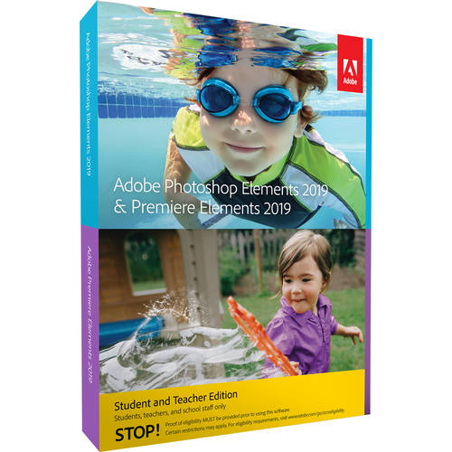 Photoshop Elements & Premiere Elements 2019 Student and Teacher Edition DVD