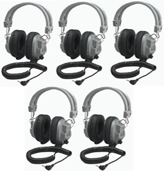 SC7V Stereo/Mono Deluxe Headphones with Volume Control (5 Pack)