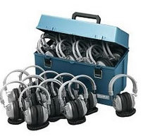 Lab pack w/ 24 HA7 Headphones in Large Carry Case