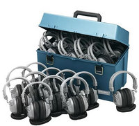 Lab pack w/ 24 SC7V Headphones in Large Carry Case