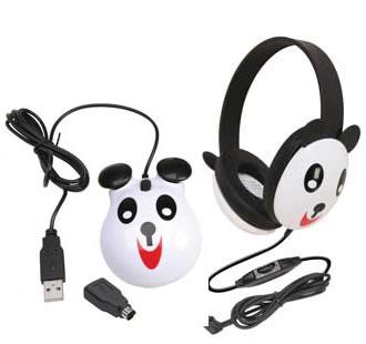 Children's Headset & Mouse Combo - Panda