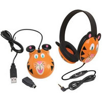 Children's Headset & Mouse Combo - Tiger